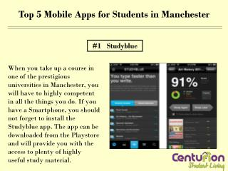Top 5 Mobile Apps for Students in Manchester
