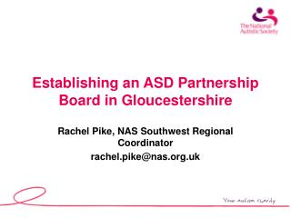Establishing an ASD Partnership Board in Gloucestershire