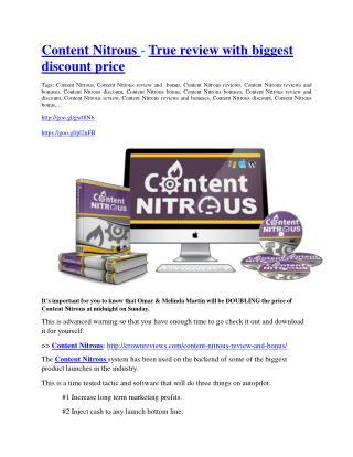Content Nitrous Review - (FREE) Bonus