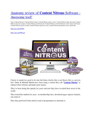 Content Nitrous review-(SHOCKED) $21700 bonuses