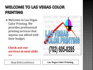 Professional Printing service in Las Vegas
