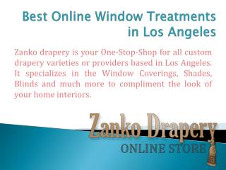Window Treatments in Los Angeles