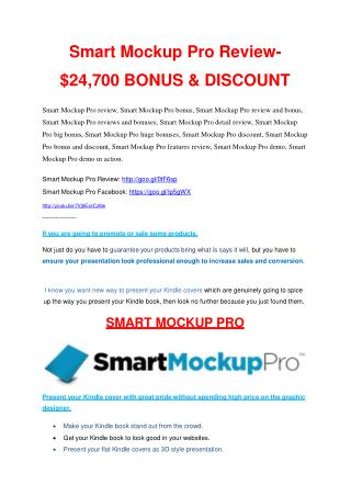 Smart Mock Up Pro review & huge  100 bonus items