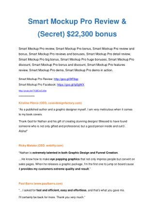 Smart Mock Up Pro review &  Smart Mock Up Pro $22,600 bonus-discount