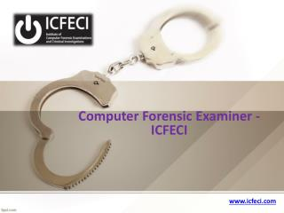 Computer forensic examiner - icfeci