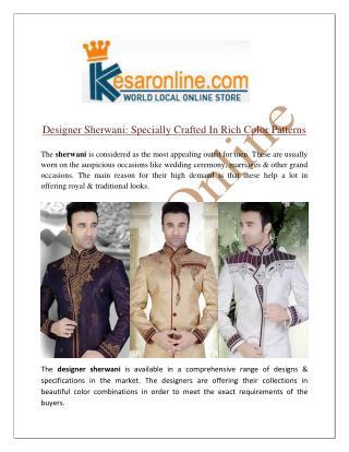 Designer Sherwani Online Shopping In Canada
