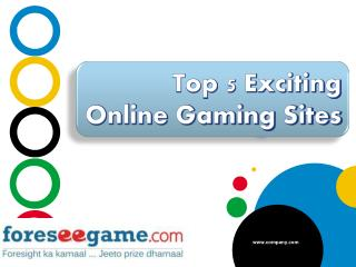 Top 5 Exciting Online Gaming Sites