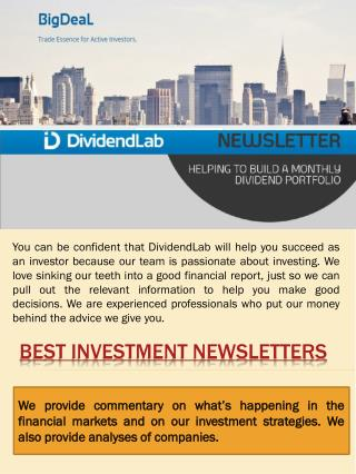 Best Investment Newsletters