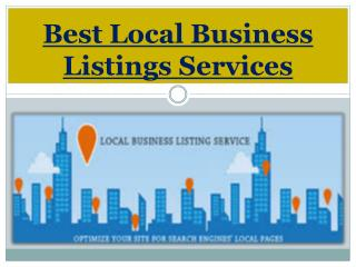 Best Local Business Listings Services