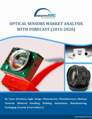 Optical Sensors Market to cross $34 Billion mark by 2020