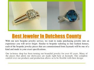 Best Jeweler In Dutchess county