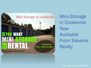 Mini-Storage in Cookeville Now Available From Stevens Realty