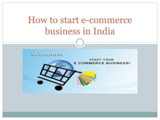 How to start e-commerce business online