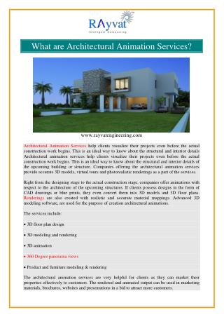 Architectural Animation Services