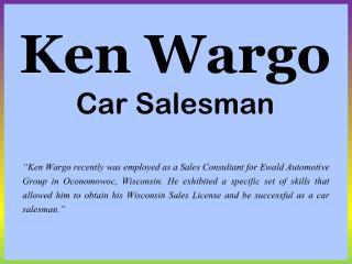 Ken Wargo Car Salesman