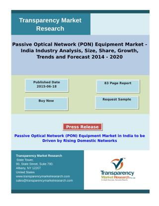 Passive Optical Network Equipment Market