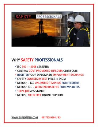 Govt approved Industrial and fire and safety course syllabus & Course Details - Nebosh safety courses in chennai