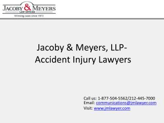 Jacoby & Meyers, LLP-Accident Injury Lawyers.