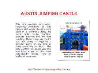 Sydney jumping castles | Austin Jumping Castle