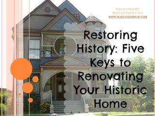 5 Pitfalls to Avoid When Renovating a Historic Home