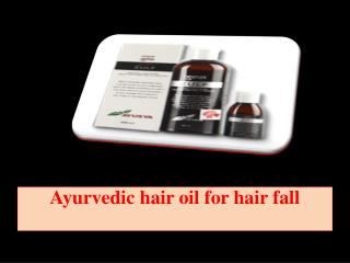 Ayurvedic hair oil for hair fall