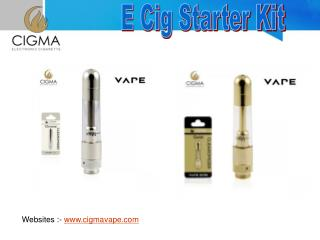 E Cig Liquid and Starter Kit