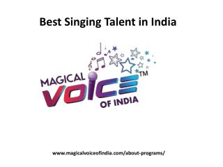 Best Singing Talent in India