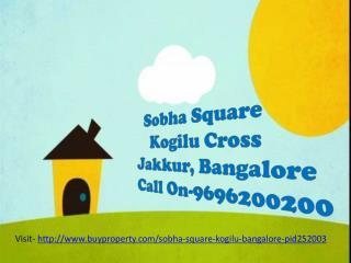 Sobha Square 3BHK Residential, Bangalore