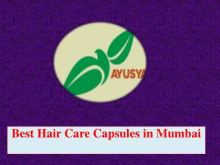 Best Hair Care Capsules in Mumbai