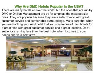 Why Are DMC Hotels Popular in the USA?