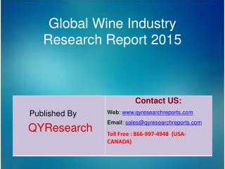 Global Wine Market 2015 Industry Shares, Research, Analysis, Applications, Forecasts, Growth, Insights and Overview