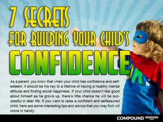 7 Secrets for Building your Child's Confidence