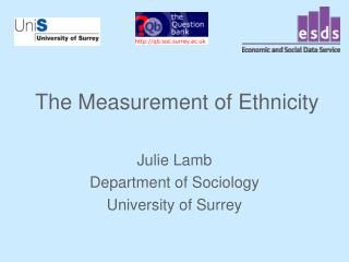 The Measurement of Ethnicity