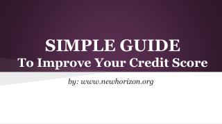 Do It Yourself To Improve Your Credit Score