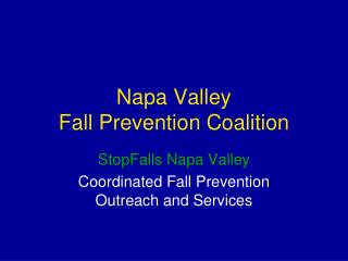 Napa Valley  Fall Prevention Coalition