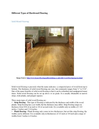 The Different Types of Hard Wood Floorings
