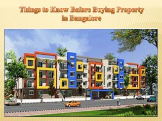 Things to Know Before Buying Property in Bangalore