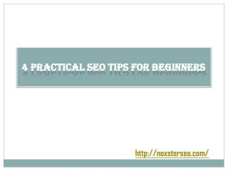 4 Practical SEO Tips for Beginners