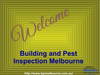Pest And Building Inspections Melbourne