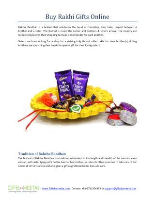 Buy Rakhi Gifts Online