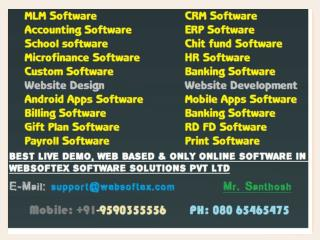CRM Software, Online Software, CRM Systems, Chit fund Accounting Software, Software Chit Funds, Software Print Shop, Web
