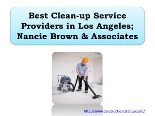 Best Clean-up Service Providers in Los Angeles; Nancie Brown & Associates