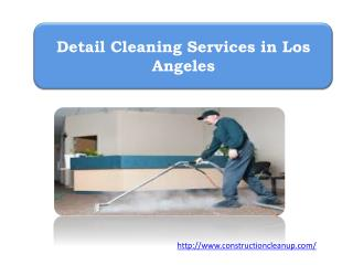 Detail Cleaning Services in Los Angeles