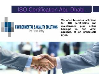 Iso Certification Dubai