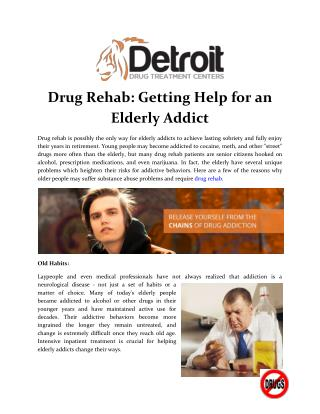 Drug Rehab: Getting Help for an Elderly Addict