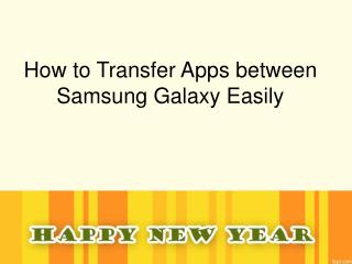 Samsung Apps Transfer - How to Transfer Apps between Samsung Galaxy Note/S 2/3/4/5