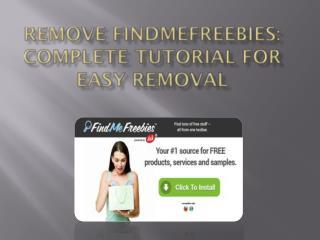 Uninstall FindMeFreebies, Get Rid Of FindMeFreebies Virus Immediately