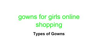 gowns for girls online shopping