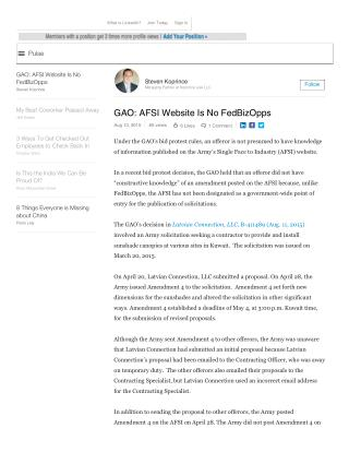 Blog 77  USMC 20150815 GAO_ AFSI Website Is No FedBizOpps