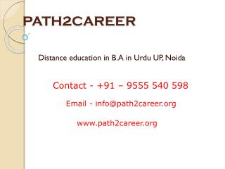 B.A in Urdu distance education service provider India @9278888356